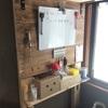 【DIY】棚にウッドウォールを追加