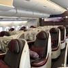 [JGC修行]4の7:カタール航空ドーハ→フランクフルトA380-800