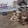 最後の薪割り 不思議だ~ The last splitting of firewood