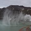 寒河江ダム(月山湖大噴水)