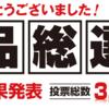 【号外】阪神梅田百貨店「食品総選挙」開票結果速報!!!(2016/7/15)