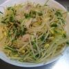 料理の練習 No.11  もやしと豆苗の豚しゃぶサラダ