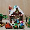 レゴで「クリスマスのおうち」を作ってみました(41323 レゴフレンズ「スノーロッジ」のアレンジ)