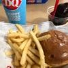 昼食はどうしてもこんな感じのハンバーガーも多くなります…