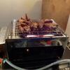 幸運な病のレシピ( 719 )夜 :サンマ(頭と内臓+舞茸のアヒージョ、もちろん身も食う))、豚ロース照り焼き(リンナイ赤外線グリラー 「R-3452-III」+グリラー)