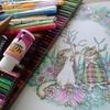完成】クリスマスっぽいリスさん達ページが塗りあがりました☆幸せのメヌットより