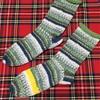 初めて編む靴下、完成😂😂😂😂