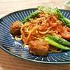 簡単!!ミートボールのトマトパスタの作り方/レシピ