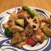 鶏と秋野菜の塩炒め。今宵のひとサラ。