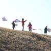 3年生の凧揚げ