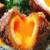 半熟卵の肉巻き