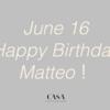 6月16日は、マテオの金沢で初めてのお誕生日。今週末のディナーは、ぜひ「CASA」で!