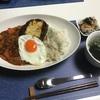2/25 おうちばんごはん〜目玉焼きハンバーグカレー〜