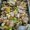 豚肉と茄子、ズッキーニ、ニラのスタミナ焼き