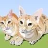 知人の保護猫の兄妹をエクセルで描いてみた②【作画過程つき】