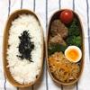 20180418ハンバーグ弁当【プラス小1学童弁当】&ご飯は左!