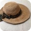 笹和紙で編む夏の帽子完成