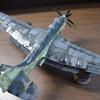 「墨入れとふき取り」フェアリー ガネット AS Mk.1/4 レベル1/72