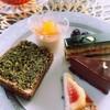 柿と抹茶のローオペラ