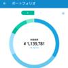 WealthNaviを20日使ったら、110万円が114万円になった。