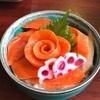 ぷらっとみなと市場 とりあえず逢海 サーモン丼