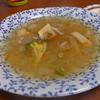 幸運な病のレシピ( 897 )昼:玉ねぎと舞茸のスープ(ピザオムレツの仕立て直し)、のど黒唐揚げのテリテリ