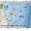 2017年10月03日 01時44分 岩手県沖でM3.2の地震