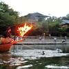7月の嵐山は川開きの神事と鵜飼で始まりました