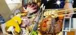 もりもり海鮮鍋…と肉!💥🍖(✧△✧ )