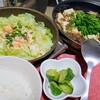 作り置き肉味噌で麻婆茄子とサーモンキャベツ蒸し