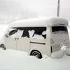 #939 道路も空も雪一色!