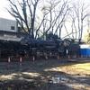 SL撤去作業中の富山城址公園へ