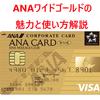【マイル還元率1.648%】ANAワイドゴールドカードの魅力と使い方解説