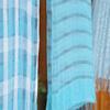 シルクとウールは水と生葉だけで綺麗に染まる!藍の生葉染め体験