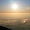 朝5時、外輪山にて