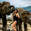 象さんと記念写真