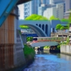 ミニチュア風写真『松住町架道橋と昌平橋から聖橋』