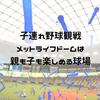 子連れ野球観戦!埼玉西武ライオンズの本拠地、メットライフドームは、親子で楽しめる球場なんです!