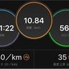 つなぎジョグ10kmと流し3本
