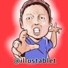 iPadProで描いた ネゴシックスさんの似顔絵。