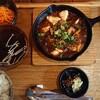 まぁ坊豆腐店の鉄板麻婆豆腐定食のランチ