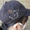 【ムーミン刺繍】キャップに刺繍してみた(^^)