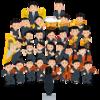 子、広島交響楽団の指揮をする。