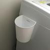 洗濯機横のゴミ箱に…セリアのファインBOXがスッキリしていい感じ