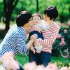 代々木公園で5ヶ月の赤ちゃんと一緒にポートレート