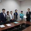 18日、東電川村会長のトリチウム海洋放出発言に抗議し、県と東電に申し入れ。
