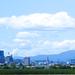 2つのビル群で成り立つ仙台市街地!仙台街並み遠景写真