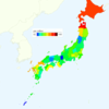 Rate of Deaths from Breast Cancer by Prefecture in Japan, 2015