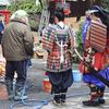 小正月の左義長神事「どんど焼き」/       わが家のお飾り抱えて鎌倉…荏柄天神さんへ