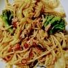 キャベツとツナとブロッコリーのスパゲッティ